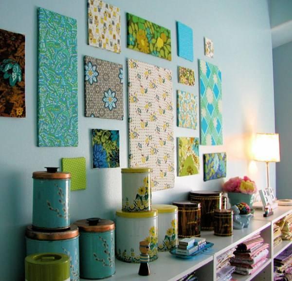 Ткань в роли декора для стен