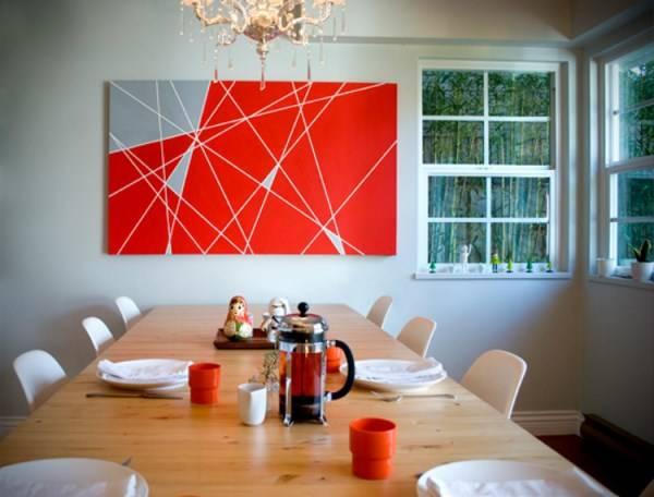 Геометрическая абстракиция на стену
