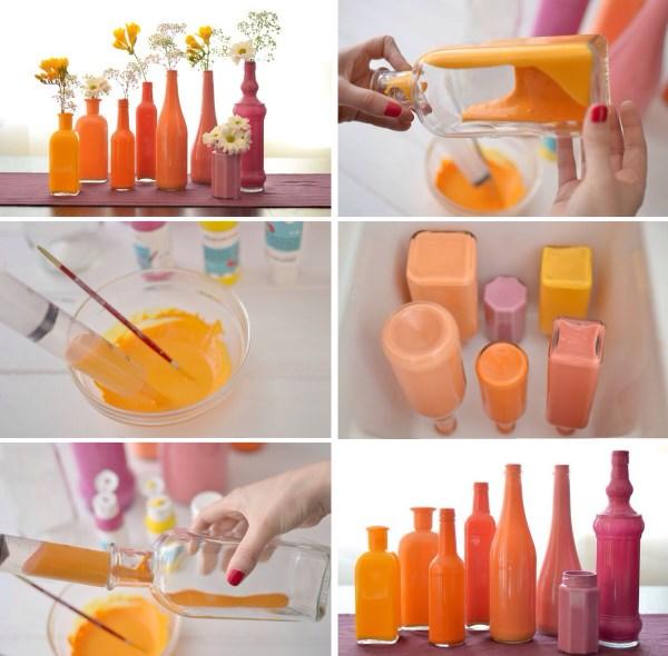 Покраска бутылок декор