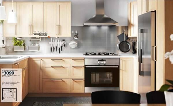 Мебель для кухни IKEA в натуральном цвете