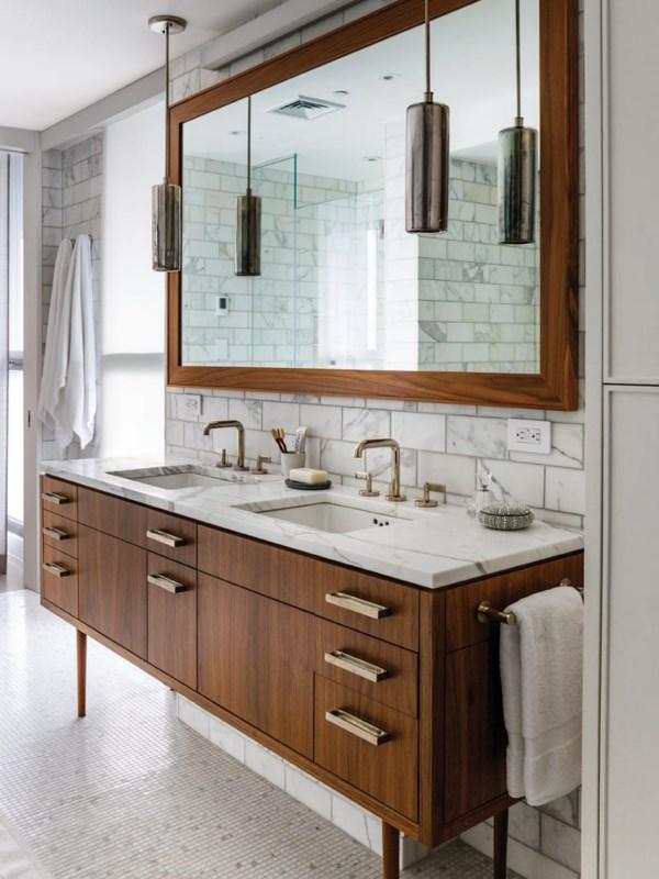 Стильная своременная мебель для ванной