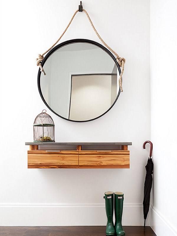 Дизайн маленькой прихожей с подвесной мебелью