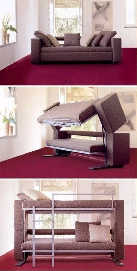 Диван, превращающийся в двухъярусную кровать