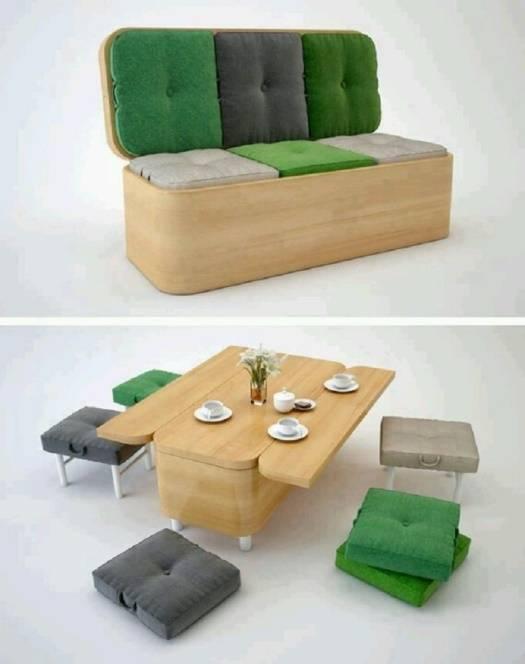 Многофункциональный набор мебели диван-стол