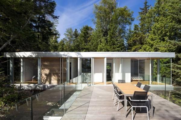 Дизайн дома в лесу