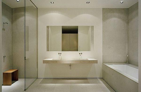 Минималистский дизайн ванной комнаты