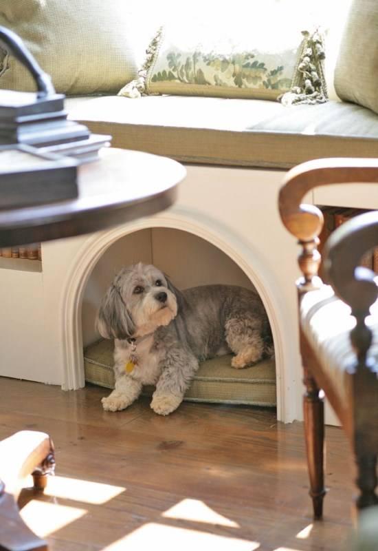 Уютный домик для собаки в квартире