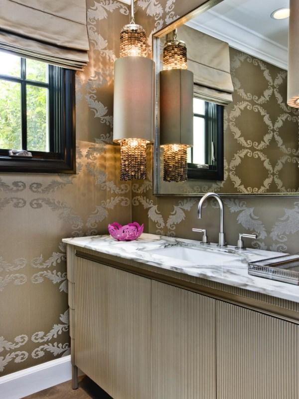 Роскошный дизайн маленькой ванной комнаты