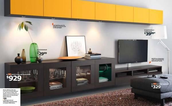 Современная мебель для гостиной Икеа 2015