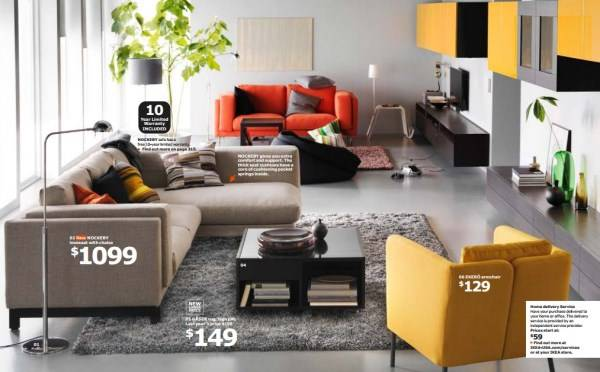 Дизайн гостиной с мебелью IKEA