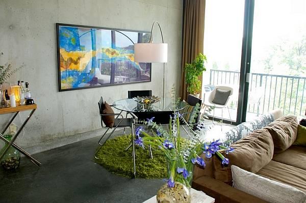 Сочетание разных стилей в гостиной