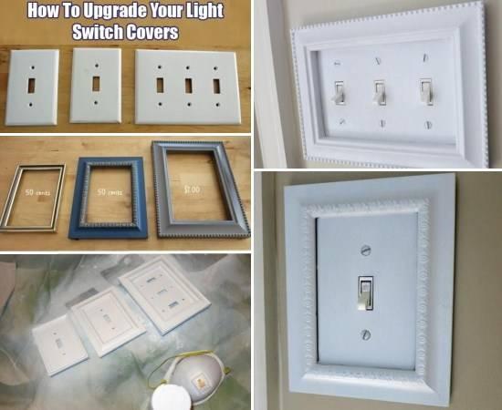 Декор из рамок для выключателей
