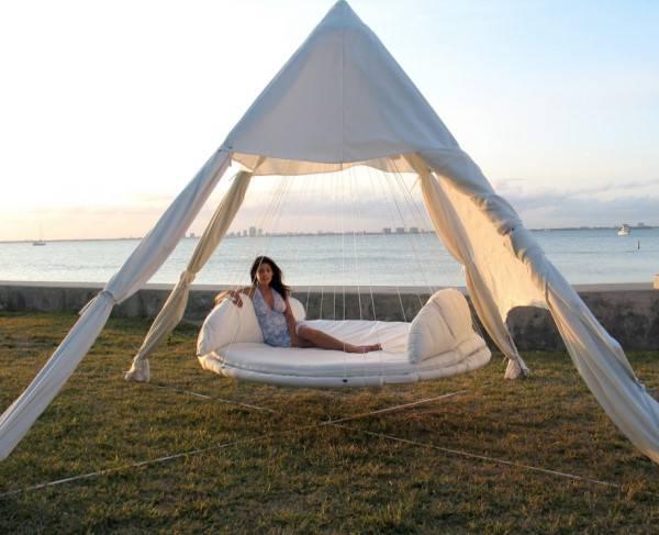 Tenteli salıncak yatağı