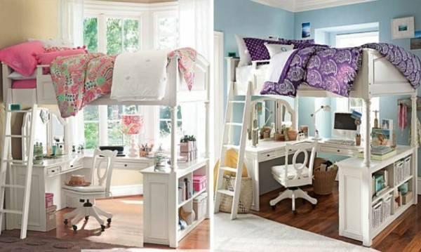 Двухъярусная мебель для детской комнаты
