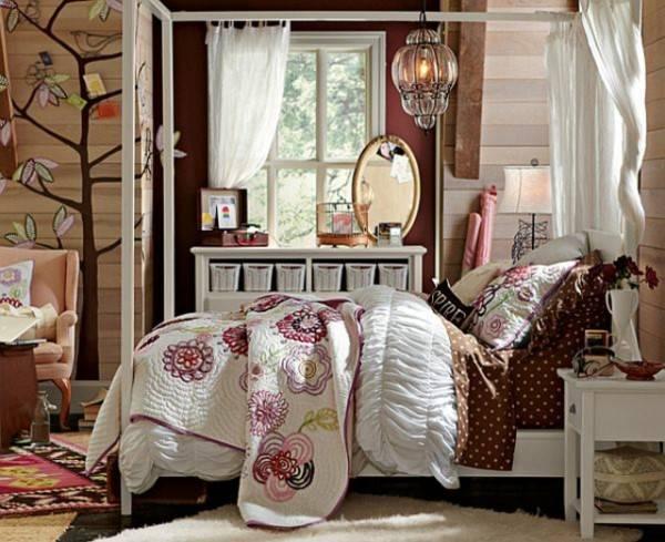 Комната для девочки в деревенском стиле
