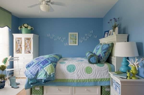 Детская комната в голубом цвете