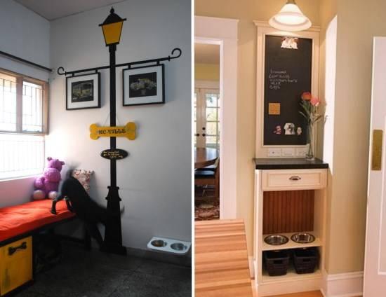 Красиво оформление места для собаки в квартире