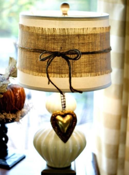 Настольная лампа в стиле кантри