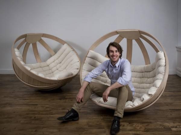 Круглое кресло качалка