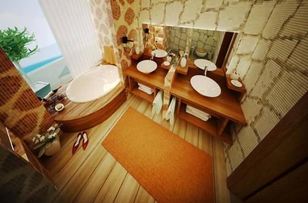 Дизайн ванной в природном стиле