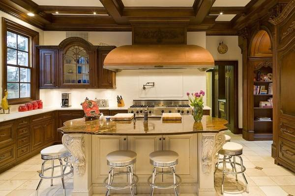 Дизайн кухни Кэтрин Зета-Джонс и Майкла Дугласа
