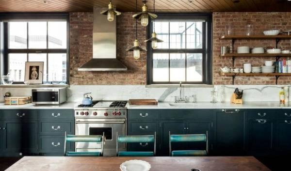 Loft tarzı mutfak tasarımı