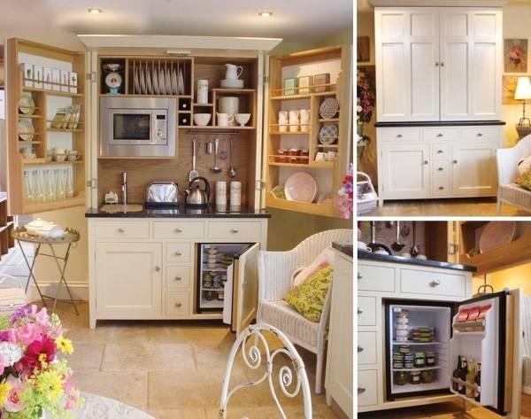 Кухонный шкаф в стиле прованс
