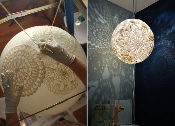 Лампа из кружева