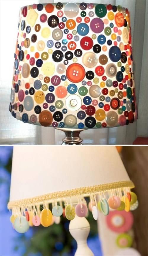 Самодельный светильник с пуговицами