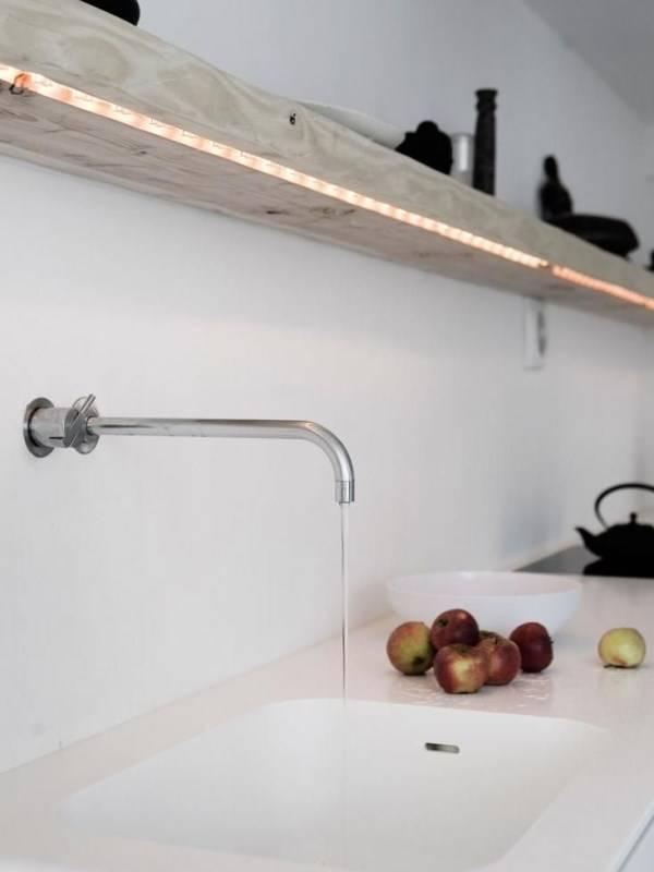 Led светильники на кухне
