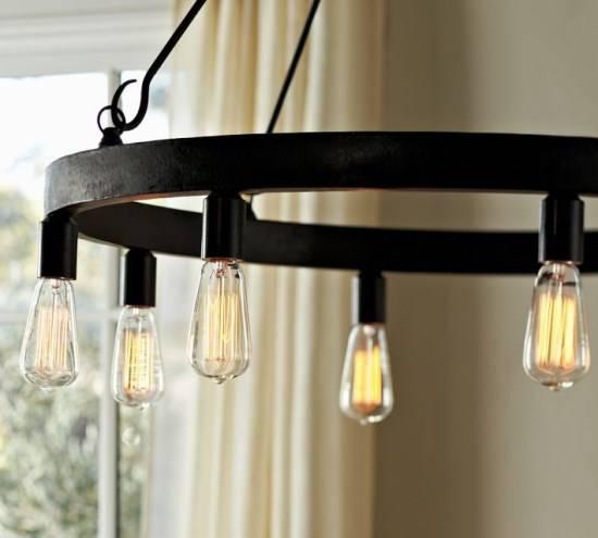 Люстры с лампами Эддисона