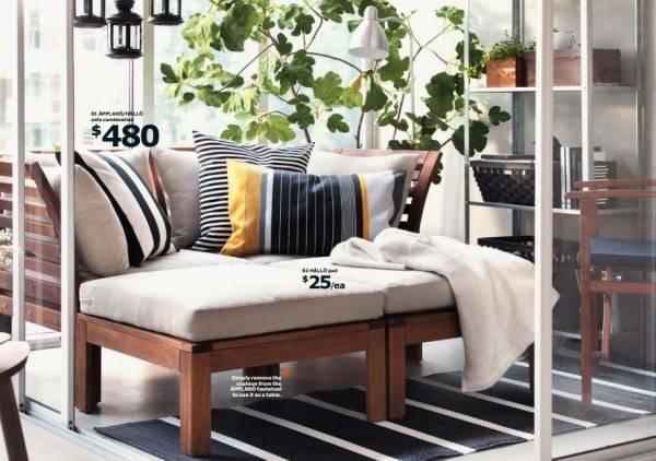 Стильная мебель для балкона каталог IKEA 2015
