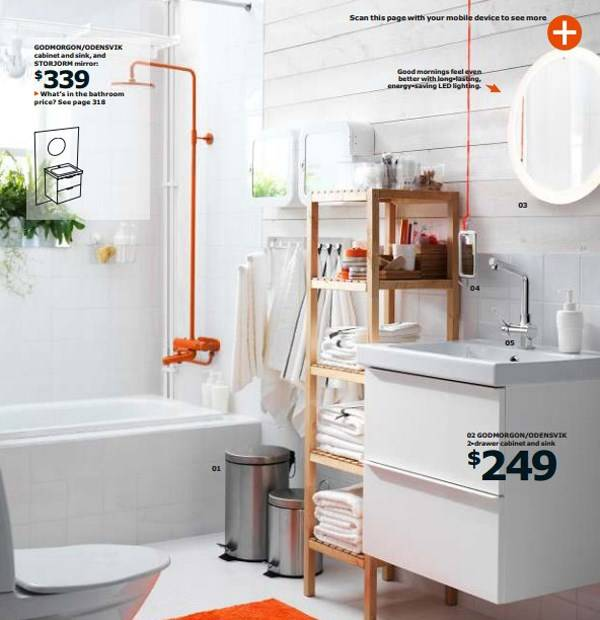Ванная комната с мебелью IKEA 2015