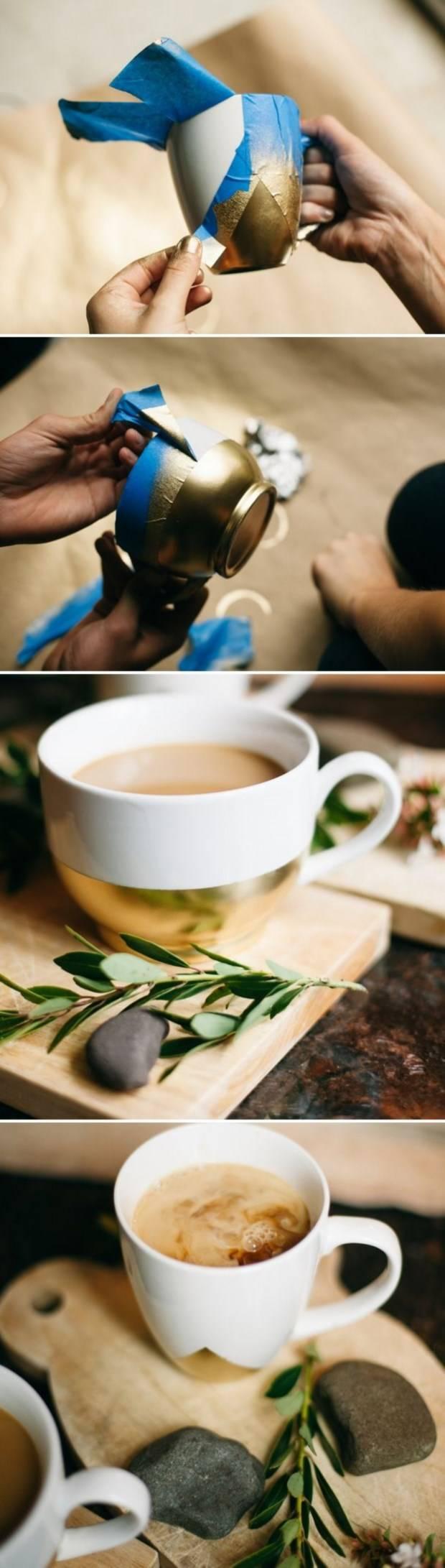 Стильная роспись чашек