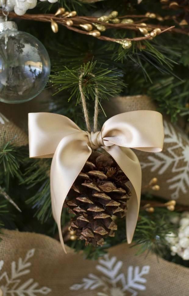 Стильный декор для новогодней елки