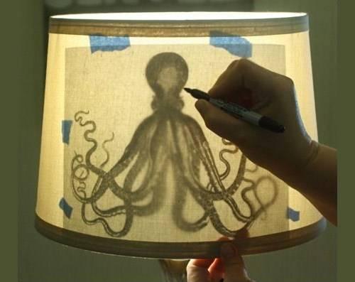 Самостоятельное украшение абажура лампы
