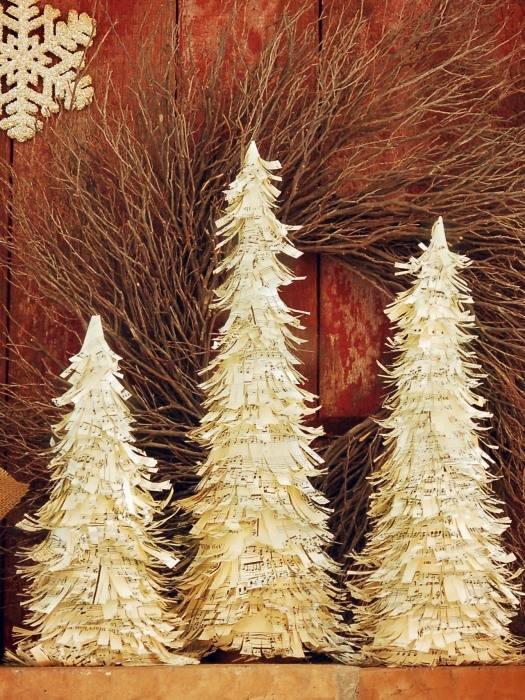 Бумажные елки на Новый Год