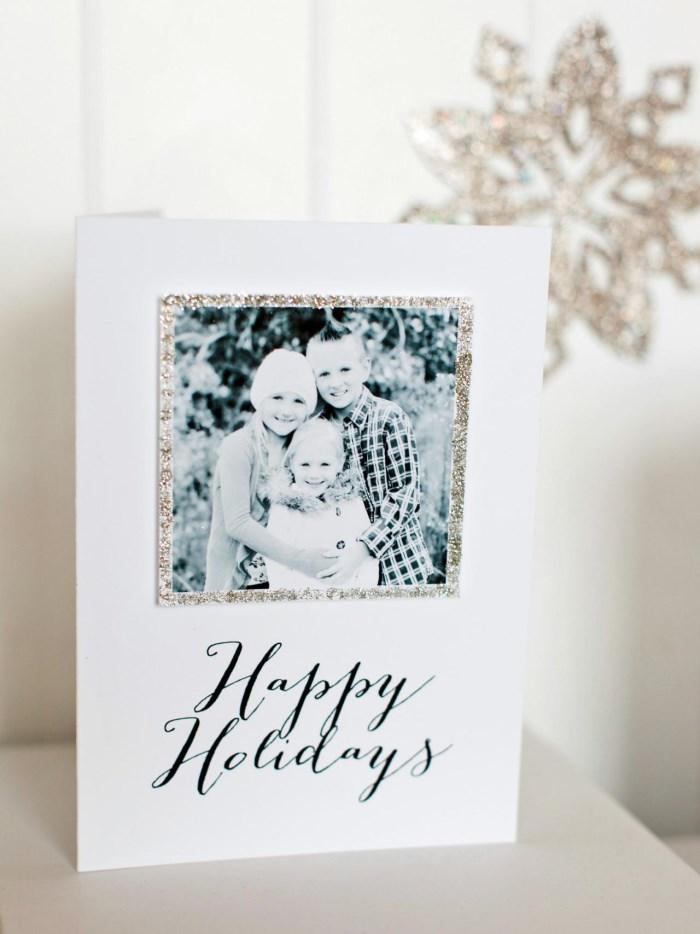 Новогодняя открытка с фотографией