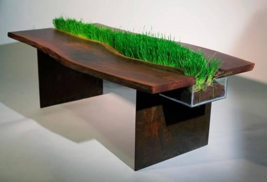 Украшение стола растениями