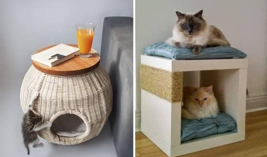Место для кошки в квартире