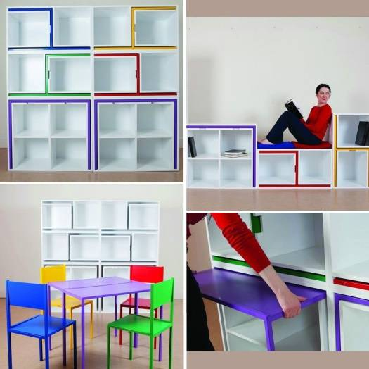 Полка с обеденным набором мебели от Orla Reynolds