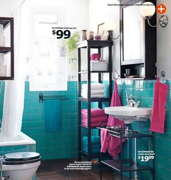 Мебель IKEA 2015 для маленькой ванной