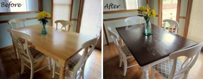 Реставрация обеденного стола