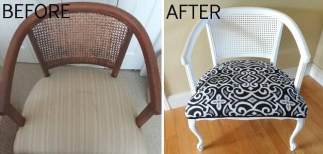 Ремонт старого стула со спинкой