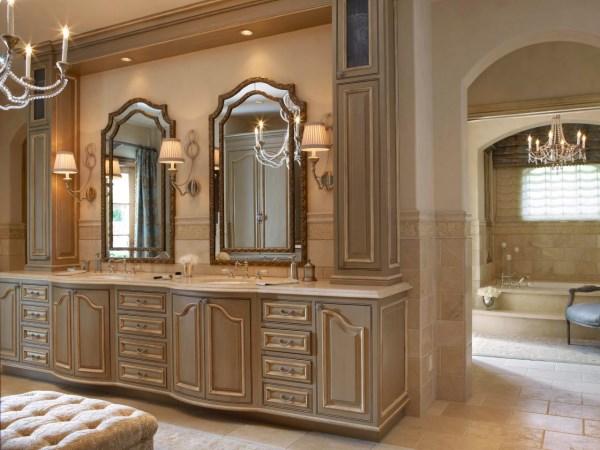Роскошный дизайн большой ванной
