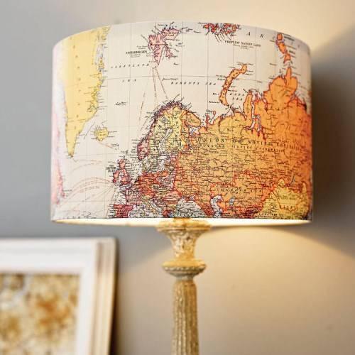 Карта мира вместо абажура
