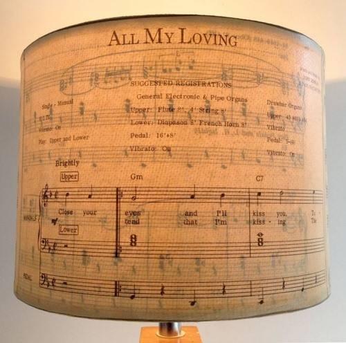Настольная лампа из нотного листа