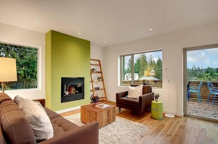 Зеленые элементы в дизайне интерьера