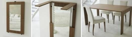 Обеденный стол, превращающийся в зеркало