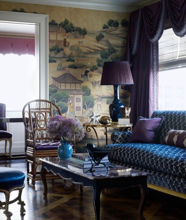 Модное сочетание цветов в гостиной